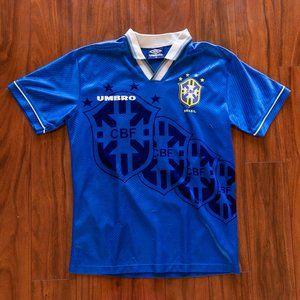 Vintage Umbro CBF Brasil Rare Soccer Jersey